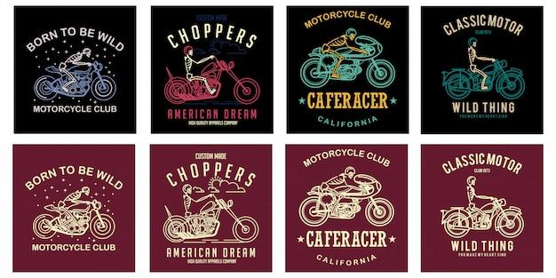 Zestaw klubu motocykli