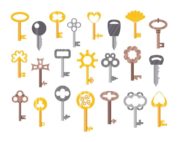 Zestaw kluczy do drzwi w stylu vintage lub antycznym