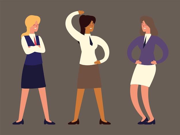 Zestaw kobiet biznesu