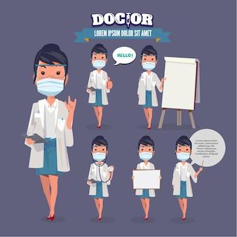 Zestaw kobiet lekarza