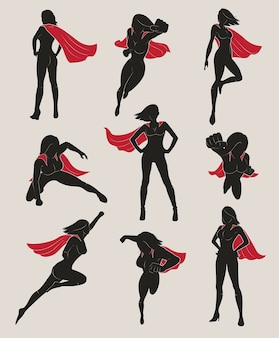 Zestaw kobiet superbohatera