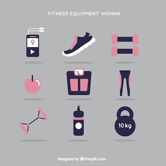 Zestaw kobieta fitness