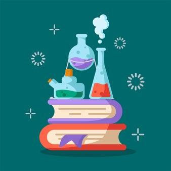 Zestaw kolb laboratoryjnych, miarki i probówek do diagnozy, analizy, eksperymentu naukowego