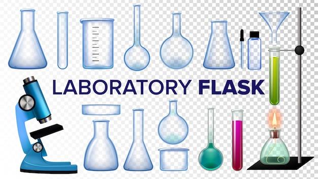 Zestaw kolb laboratoryjnych