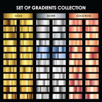 Zestaw kolekcja gradientów