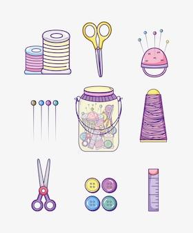 Zestaw kolekcja materiałów rzemieślniczych