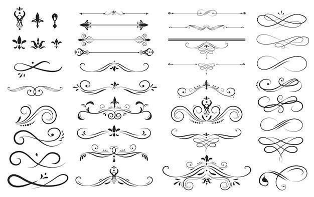 Zestaw kolekcja ornament etykiety
