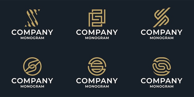 Zestaw kolekcja streszczenie list s pakiet logo