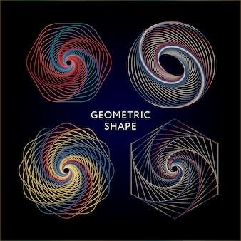 Zestaw kolekcja symboli geometrycznych