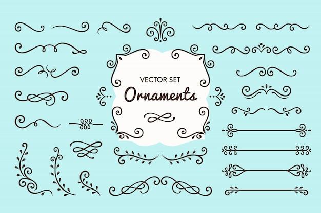 Zestaw kolekcja vintage ornament elements