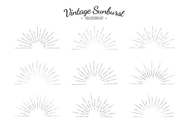 Zestaw kolekcja vintage sunburst