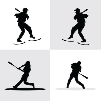 Zestaw kolekcji baseballistów