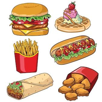 Zestaw kolekcji fast food