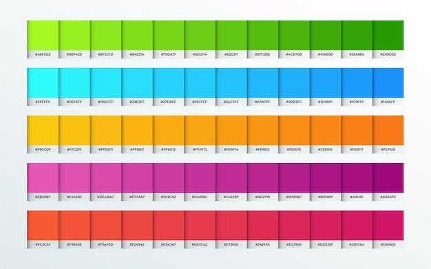 Zestaw kolekcji odcieni kolorów