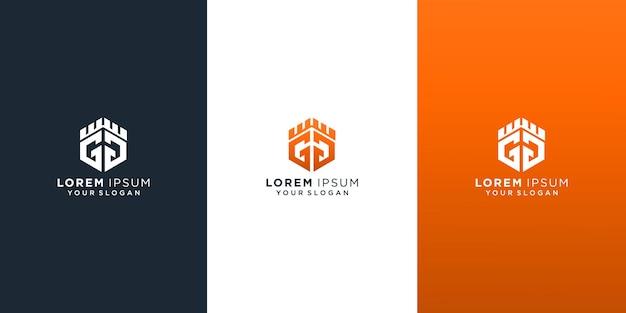 Zestaw kolekcji pierwszej litery szablonu logo gg