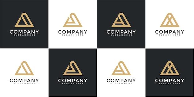 Zestaw kolekcji początkowy list szablon projektu logo