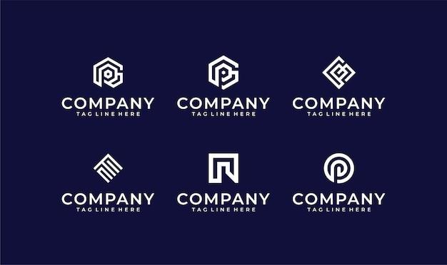 Zestaw kolekcji projektu logo firmy