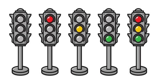 Zestaw kolekcji sygnalizacji świetlnej