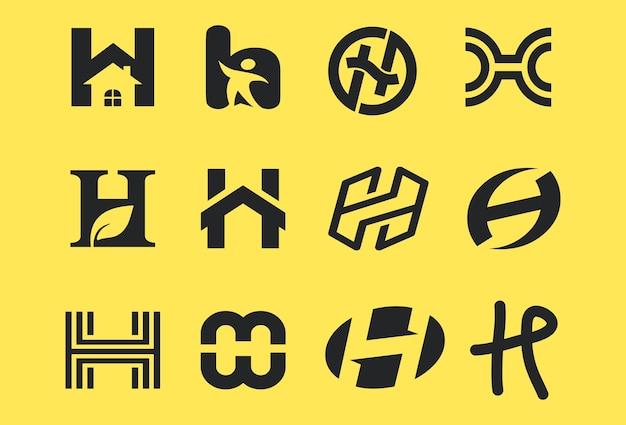 Zestaw kolekcji symboli h litery