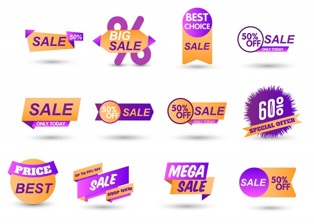 Zestaw kolekcji tagów rabatowych