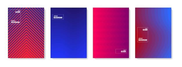 Zestaw kolorów abstrakcyjnych kształtów do projektowania