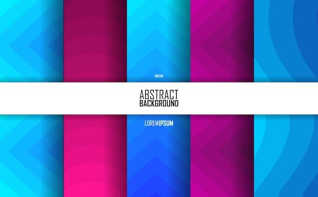 Zestaw kolorów abstrakcyjnych kształtów, wzór
