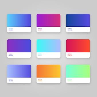 Zestaw kolorów gradientu