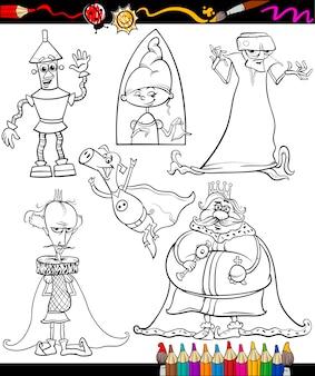 Zestaw kolorowanki kreskówka fantasy