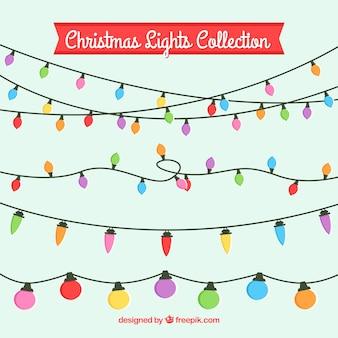 Zestaw kolorowe christmas lights