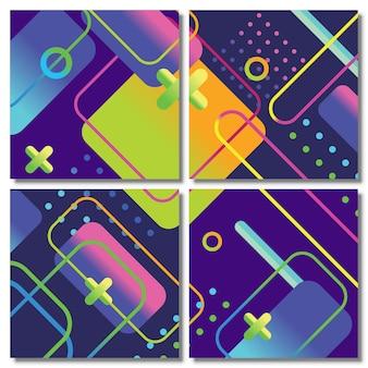 Zestaw kolorowych abstrakcyjnych szablonów tła