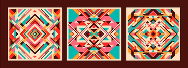 Zestaw kolorowych abstrakcyjnych wzorów
