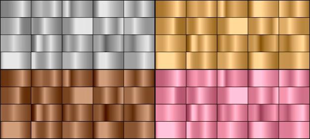 Zestaw kolorowych metalowych gradientów