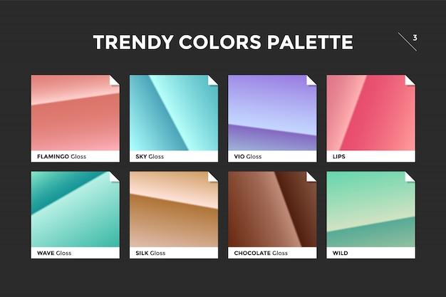 Zestaw kolorowych modny szablon gradientu