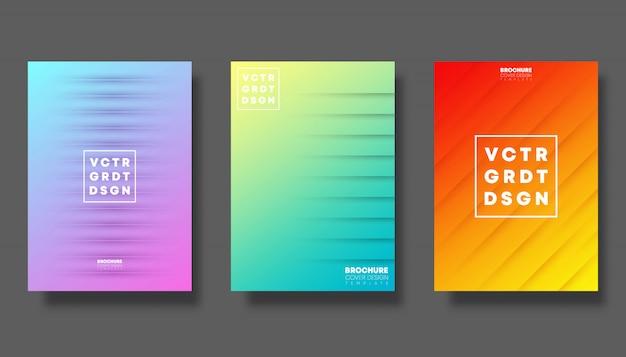 Zestaw kolorowych okładek gradientu