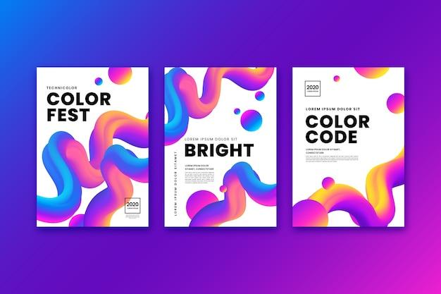Zestaw kolorowych okładek streszczenie