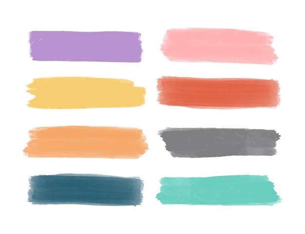 Zestaw kolorowych pędzli.
