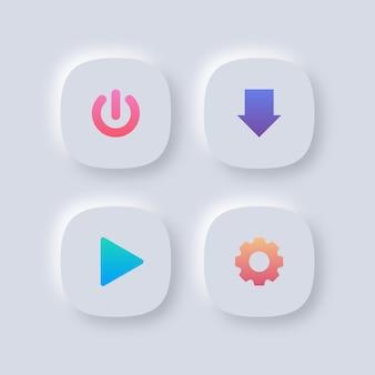 Zestaw kolorowych przycisków internetowych