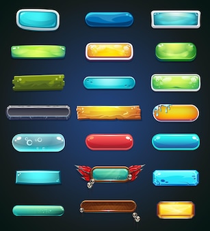Zestaw kolorowych przycisków