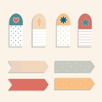 Zestaw kolorowych sticky note