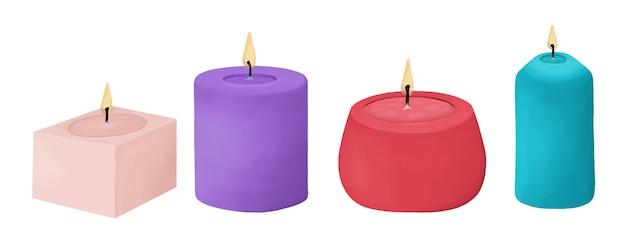 Zestaw kolorowych świec woskowych