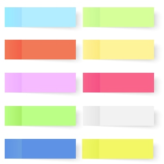 Zestaw kolorowych wektor karteczek.