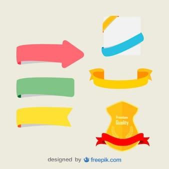 Zestaw kolorowych wstążek