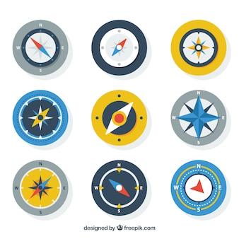 Zestaw kompasowy dziewięciu