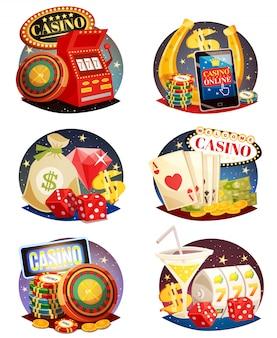 Zestaw kompozycji dekoracyjnych kasyna