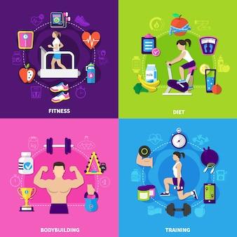 Zestaw kompozycji fitness