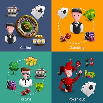 Zestaw kompozycji kasyna