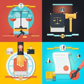 Zestaw kompozycji prawa