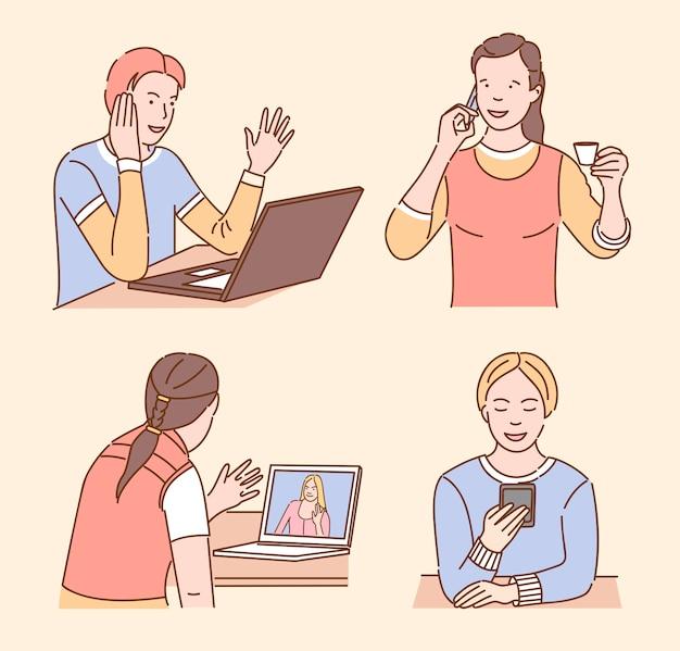 Zestaw komunikacji osób