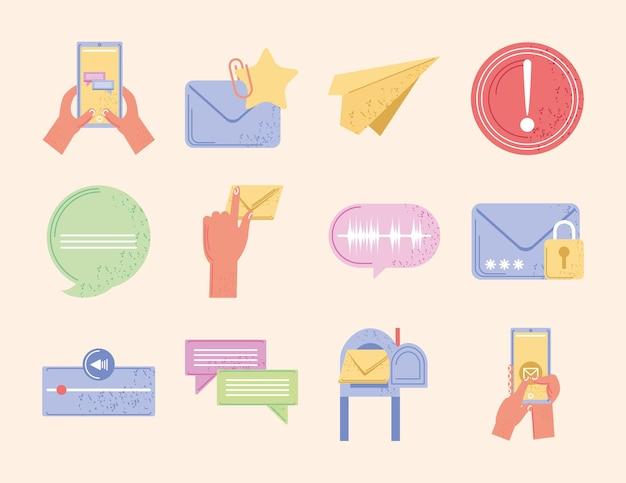 Zestaw komunikacji wiadomości