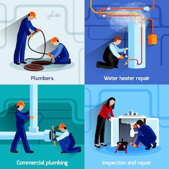 Zestaw koncepcja projektowania hydraulik